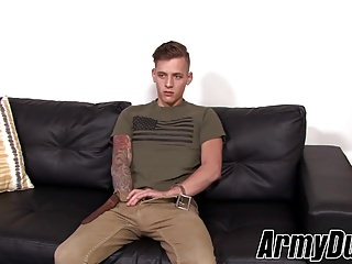 Hot tattooed Chad Neil solo jacking for the camera and you
