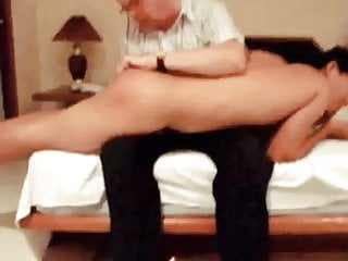 Daddy spanks naughty Chinese boy