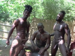 Latin Twink Armond Rizzo Gets Double Penetrated by 3 BBC's 5 Mega Cumshots