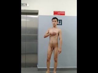 Naked at the lift area