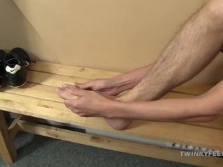Twink Jasper Foot Fetish Jerk Off