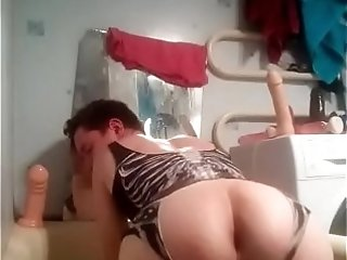 Playing with my fucking butt in bathroom