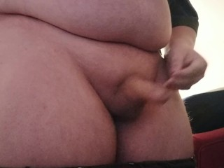 Chubby Teen strips, flashes ass and then cums for you!